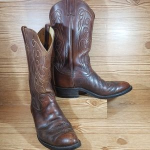Tony Lama Cowboy Boots Size 8 Brown